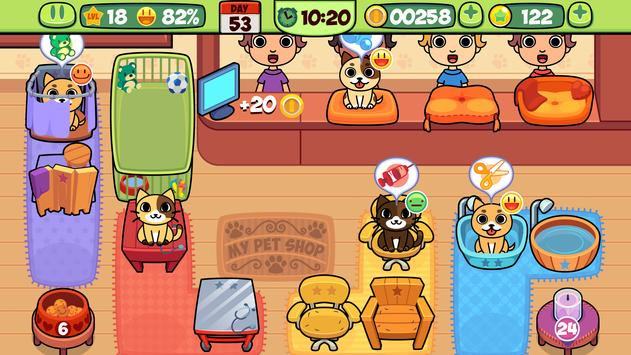 My Virtual Pet Shop - Cute Animal Care Game تصوير الشاشة 4