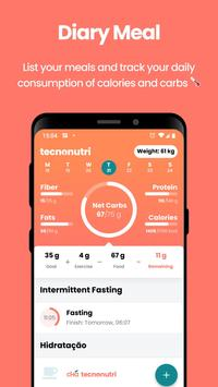 Technutri - calorie counter, diet and carb tracker poster