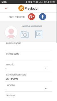 Prestação de Serviços - Prestador screenshot 2