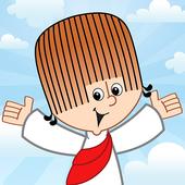 Cristãozinho-Jesus às crianças ícone
