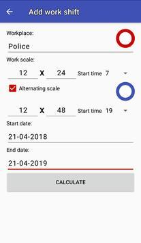 Easy work scheduling screenshot 1