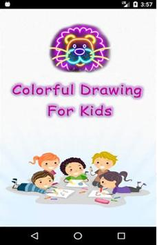 Colorful Drawing For Kids poster