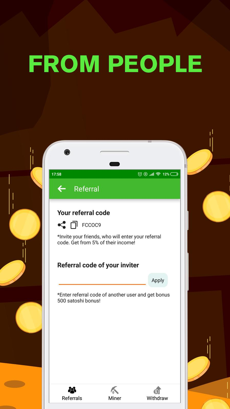 Remote Bitcoin Server Miner - Get free BTC for Android - APK Download