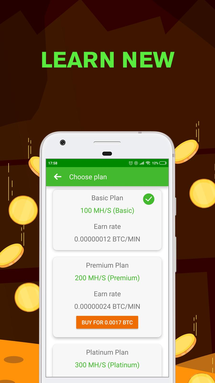 Remote Bitcoin Server Miner - Get free BTC for Android - APK