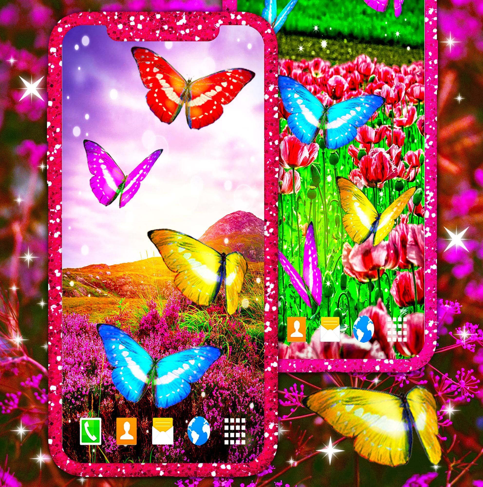 Best Magic Butterfly Flowers Hd Live Wallpaper For