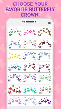 Butterfly Crown Camera - Filters for Selfies screenshot 1