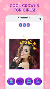 Butterfly Crown Camera - Filters for Selfies screenshot 3