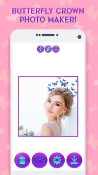Butterfly Crown Camera - Filters for Selfies screenshot 4