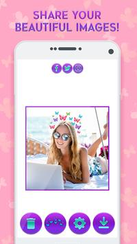 Butterfly Crown Camera - Filters for Selfies screenshot 6