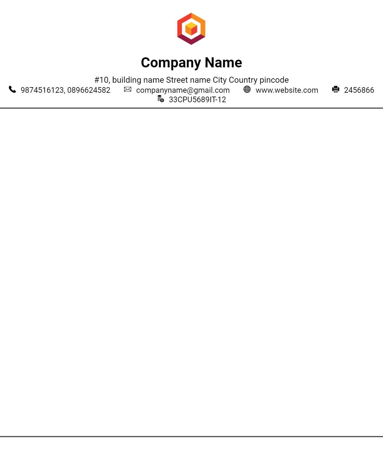 Kop Surat Membuat Kop Surat Gratis Templat Bisnis For