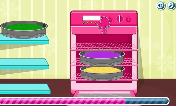 Cooking Rainbow Birthday Cake Screenshot 4