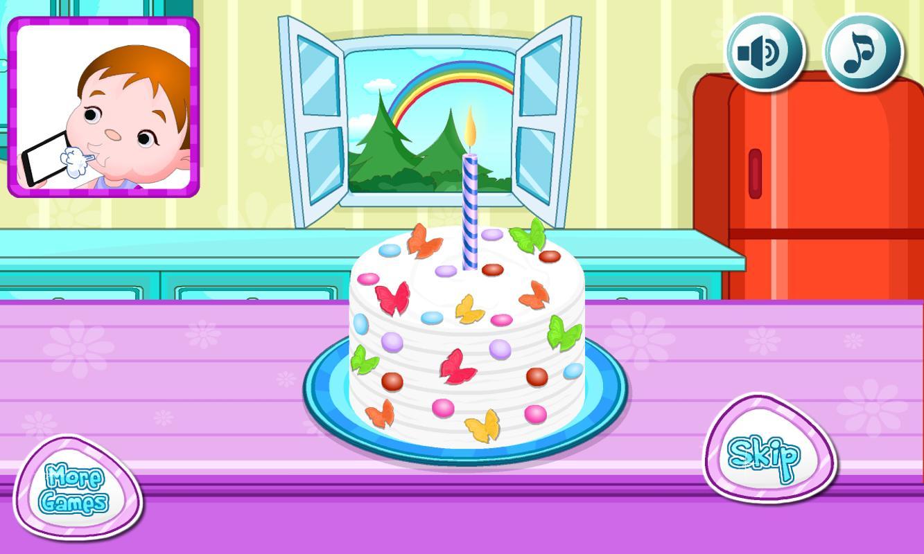 Cooking Rainbow Birthday Cake Screenshot 7