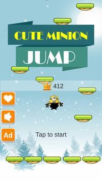 Cute Minion Jump poster