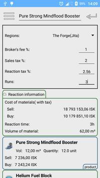 EVE Reaction Calculator screenshot 2