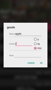 Shopping list screenshot 3