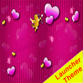 Lovely Pink Theme GO Launcher