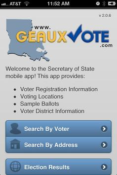 Poster GeauxVote Mobile
