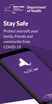 COVID Alert NY poster
