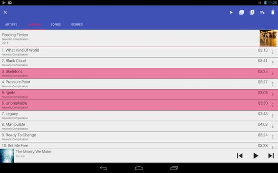 GoneMAD Music Player captura de pantalla 8