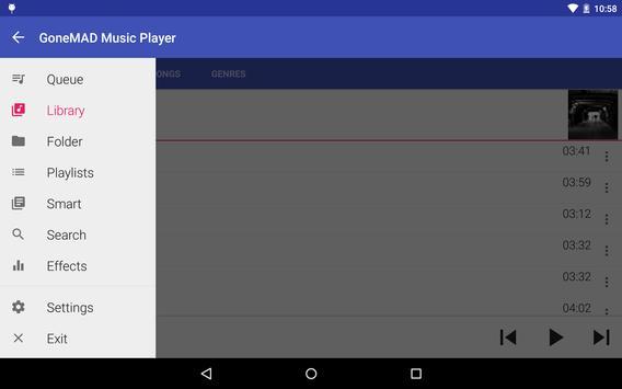GoneMAD Music Player captura de pantalla 10