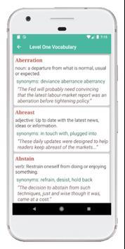 GRE Vocabulary screenshot 2