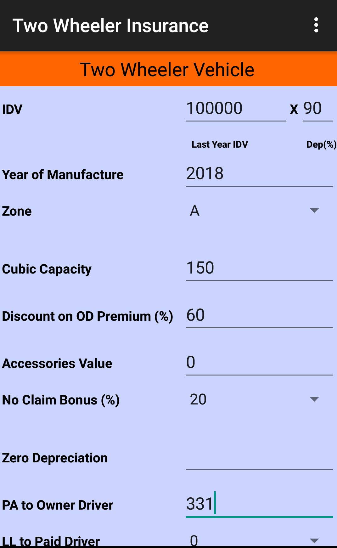 Motor Insurance Calculator For Android Apk Download