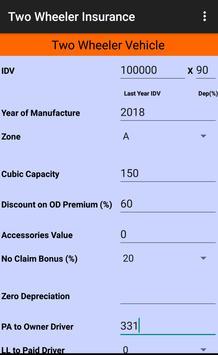 Motor Insurance Calculator screenshot 3