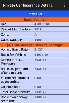 Motor Insurance Calculator screenshot 4