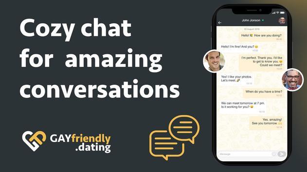 Gay guys chat & dating app - GayFriendly.dating screenshot 2