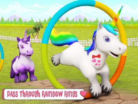 طفل يونيكورن الحياة البرية: المهر الحصان ألعاب تصوير الشاشة 9