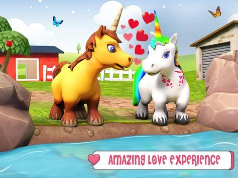 طفل يونيكورن الحياة البرية: المهر الحصان ألعاب تصوير الشاشة 13