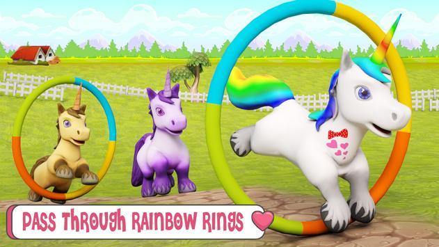 طفل يونيكورن الحياة البرية: المهر الحصان ألعاب تصوير الشاشة 4
