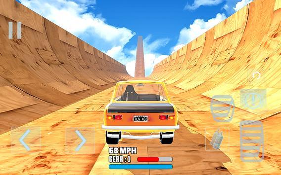 Mega Ramp Stunt drive Tantangan Mobil Balap poster