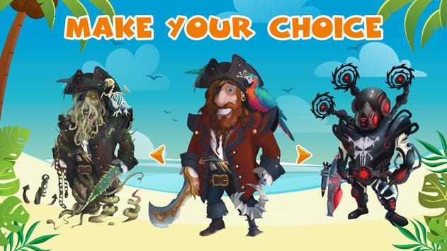 Pirate Henry Four Fingers. Clicker games screenshot 3