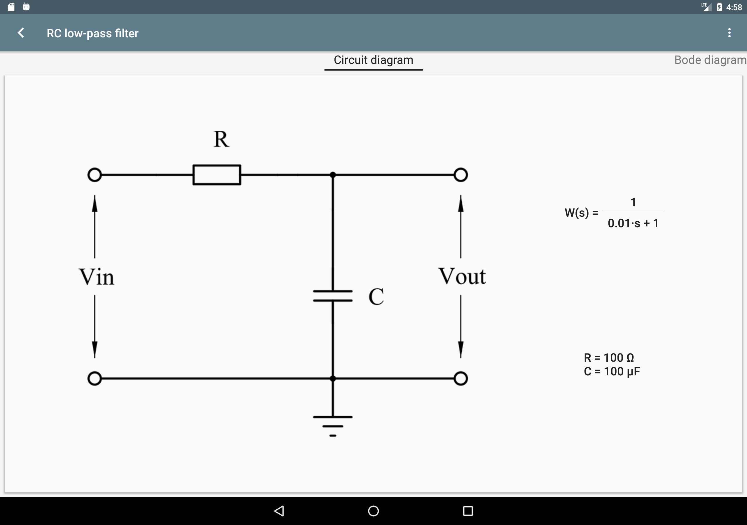 Filter Calculator (RC, RL, LC, RLC) for Android - APK Download