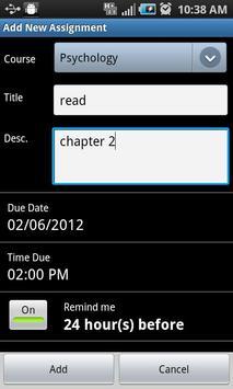Assignment Planner FREE screenshot 1
