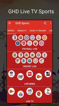 GHD SPORTS - Free Live TV Hd guide screenshot 1