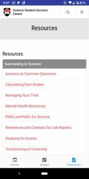 Science Student Success Centre screenshot 2
