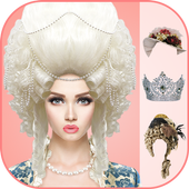 Queen dress & Hairstyle icon