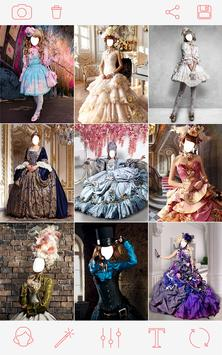 Queen dress & Hairstyle poster