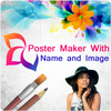 Poster Maker With Name and Image-icoon