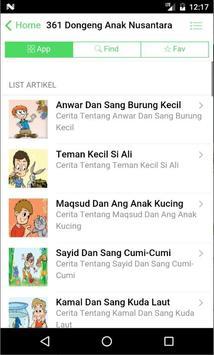 361 Dongeng Dan Cerita Anak Nusantara, Indonesia screenshot 5