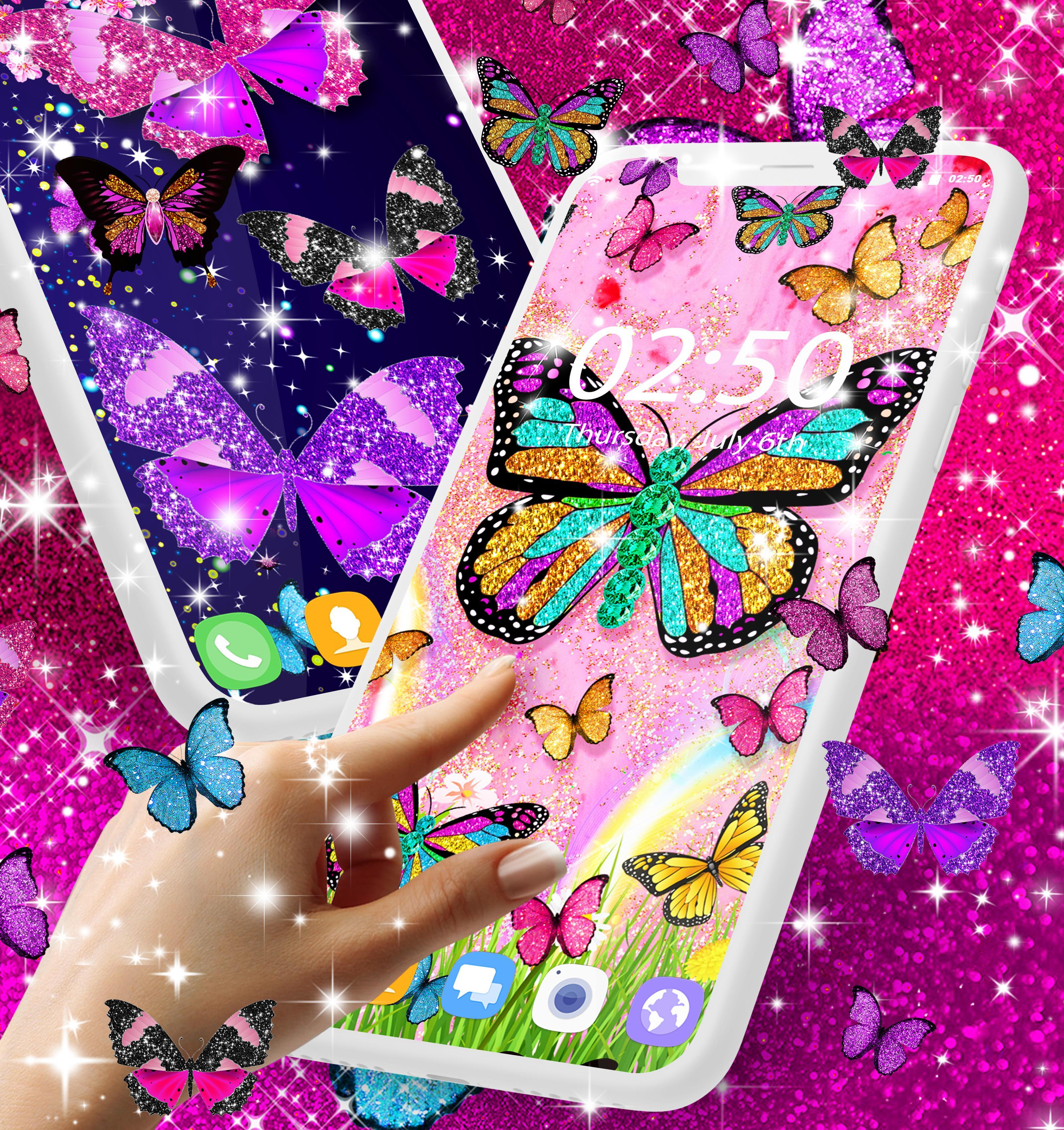 Glitter Butterfly Live Wallpaper For Android Apk Download