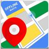 オフライン地図、GPS、道順 アイコン