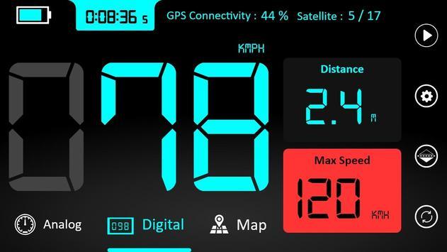 GPS Speedometer : Odometer and Speed Tracker App poster