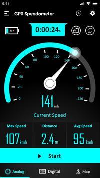 GPS Speedometer : Odometer and Speed Tracker App screenshot 1