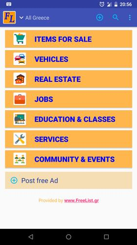 Classified Ads free in Greece and Cyprus for Android - APK Download