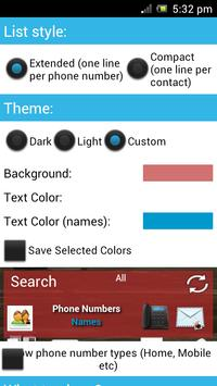 Contacts in a list widget screenshot 3