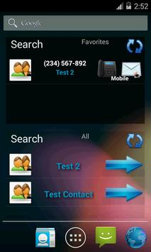Contacts in a list widget screenshot 5