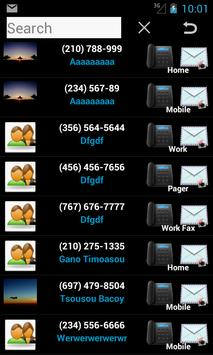 Contacts in a list widget screenshot 7